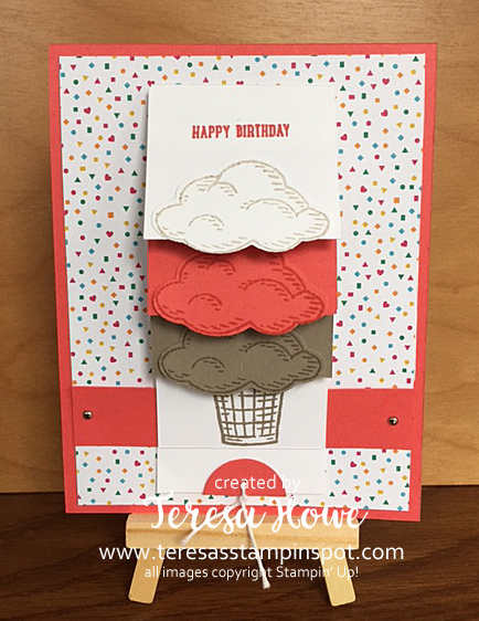 SU! Stampin' Up! Sprinkles of Life, Waterfall Card