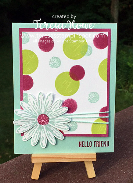 Stampin' Up! SU! Daisy Delight, Wood Words, Bokeh