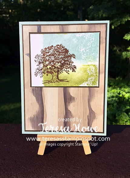 Stampin' Up!, SU! Lovely as a Tree, Glossy Cardstock, Faux Wood