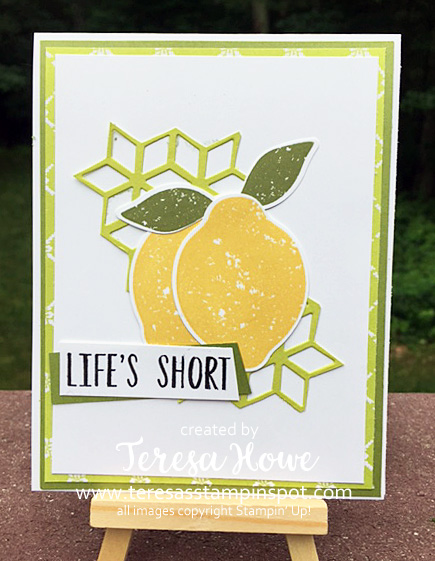 Stampin' Up! SU! Lemon Zest, Eclectic Layers