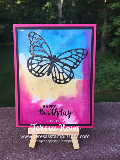 SU! Stampin' Up! Rose Wonder, Glossy Paper, Butterflies