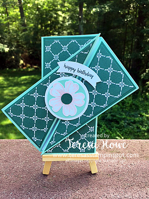 Fancy Fold, Flower Shop, Happy Birthday Gorgeous, SU!, Stampin' Up!, Technique, Tutorial