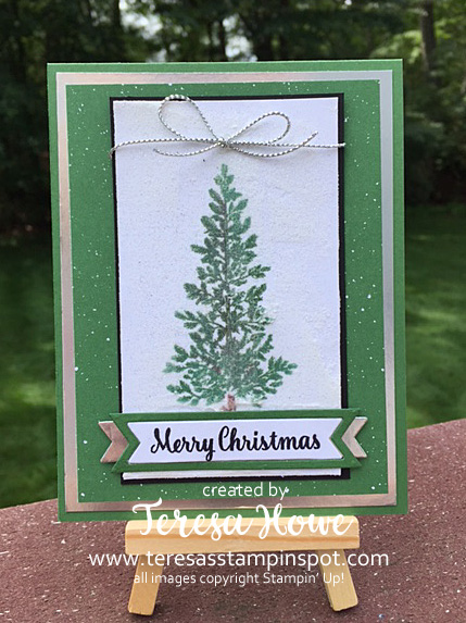 Lovely As A Tree, LaaT, Star of Light, SU!, Stampin' Up!, Embossing Paste, Glitter, Christmas
