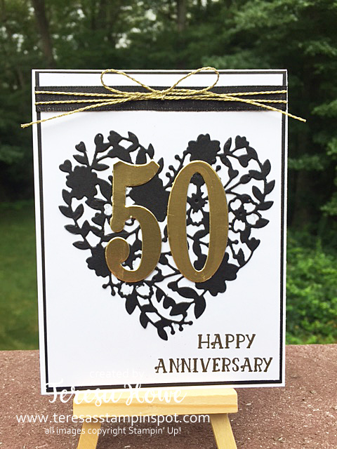 Anniversary, Number of Years, Blooming Heart, Stampin' Up!, SU!