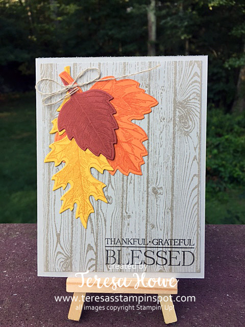 Fall, Leaves, Vintage Leaves, Hardwood, Paisleys & Posies, Stampin' Up, SU!