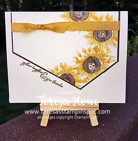 Painted Harvest, Sunflowers, Holiday 2017, Stampin' Up!, SU!