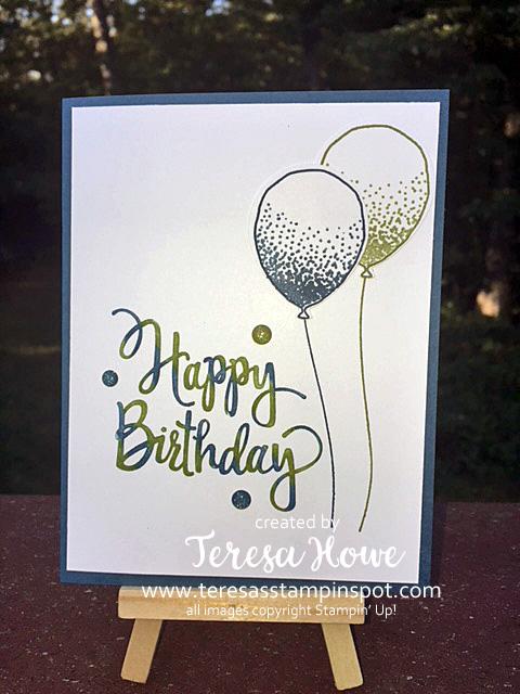 Stylized Birthday, Balloon Celebrations, Happy Birthday, Stampin' Up!, SU!