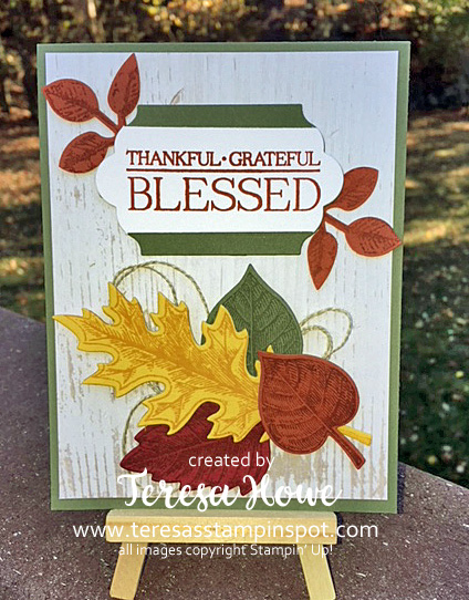 Fall, Thanksgiving, Leaves, Vintage Leaves, Paisley & Posies, Painted Autumn, Stampin' Up!, SU!