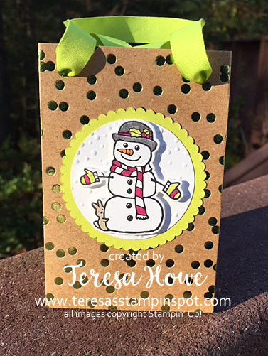 Gift Bag, Seasonal Chums, Foil Frenzy, DSP, Stampin' Up!, SU!
