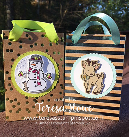 Gift Bags, Seasonal Chums, Foil Frenzy, DSP, Stampin' Up!, SU!