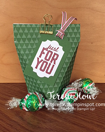 Treat Pouch, 3D, Gift, Merry Little Labels, Stampin' Up!, SU!