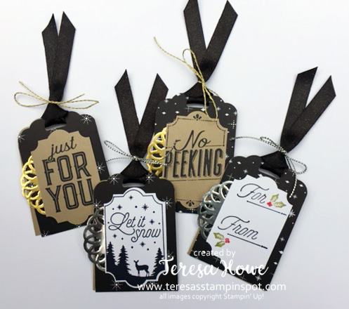 Tags, CHristmas, Merry Labels, Stampin' Up!, SU!