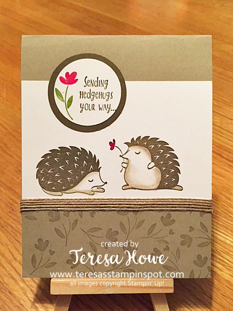 Hedgehogs, Hugs, Love, Stampin' Up!, SU!, Occasions2018