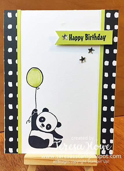 Birthday, Party Panda, Stampin' Up!, SU!, SAB2018