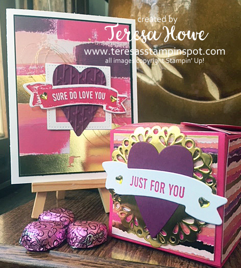 Painted With Love, Valentines, Hearts, Stampin' Up!, SU!, StampItBlogHop