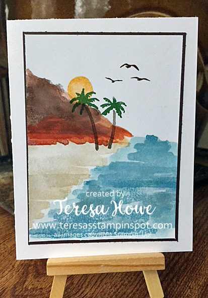 Waterfront, Watercolor, Beach, Stampin' Up!, SU! Occasions2018