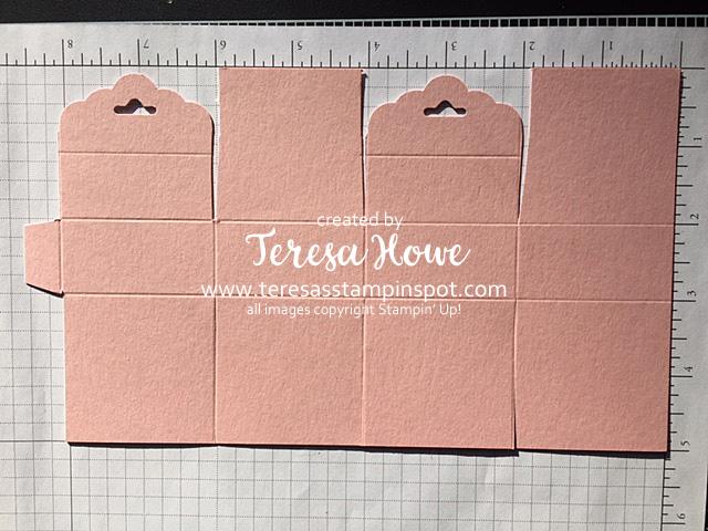 Mini Ghiradelli Treat Box Template, Templates, Patterns, valentines, Treat Holder, Stampin' Up!, SU!