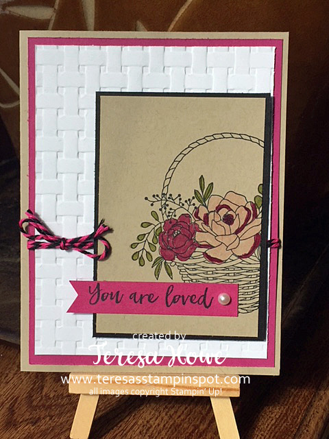 Mother's Day, Flowers, Blossoming Basket, 2018SAB, Stampin' Up!, SU!