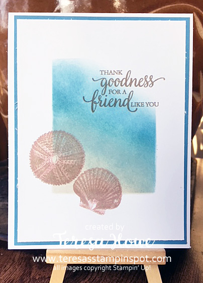 Friendship, Shells, Beach, So Many Shells, Stampin' Up!, SU! Masking