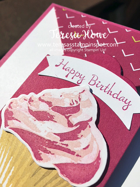 Birthday, Cupcake, Sweet Cupcake, Double Point Fold, Fancy Fold, Stampin' Up!, SU!
