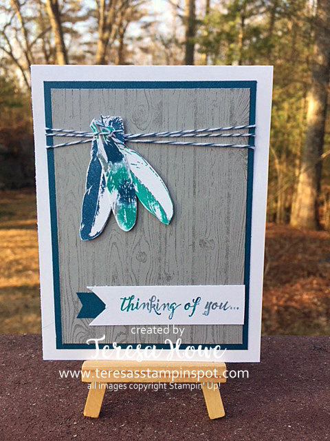Feather Together, Hardwood, Baby Wipe, Stampin' Up!, SU!