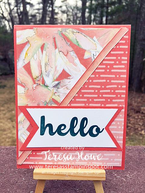 #loveitchopit, Hello, Hello Friend, Stampin' Up!, DSP, Delightful Daisy, SU!