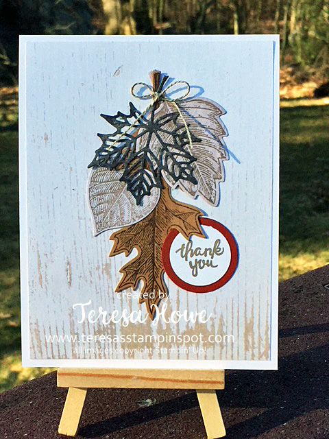 Vintage Leaves, Leaves, Fall, Thank You, Wood Textures DSP, DSP, #loveitchopit, Stampin' Up!, SU!