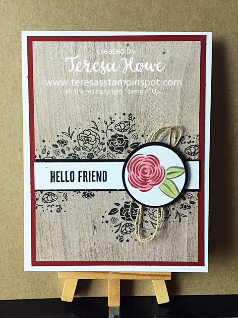 Friend, Wood Textures, Wood Words, Flowers, Stampin' Up! SU!