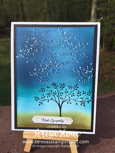 Sympathy, Thoughts & Prayers, Starry Night, Stampin' Up!, SU!, Waterfront
