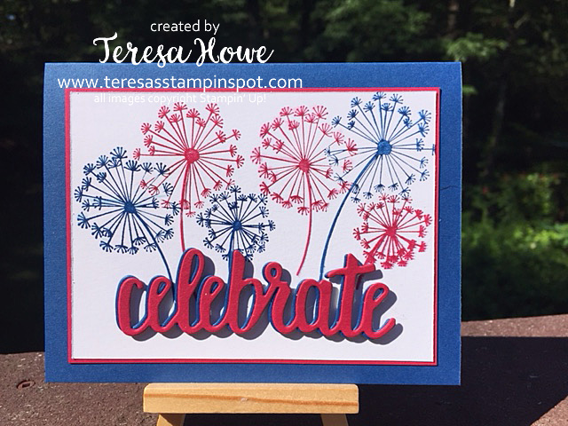 4th of July, Fireworks, Dandelion Wishes, Stampin' Up, SU!, 2018-20 In Colors