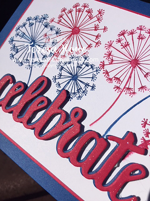 July 4th, Fireworks, Celebrate, Dandelion Wishes, Stampin' Up!, SU!, 2018-20 In Colors