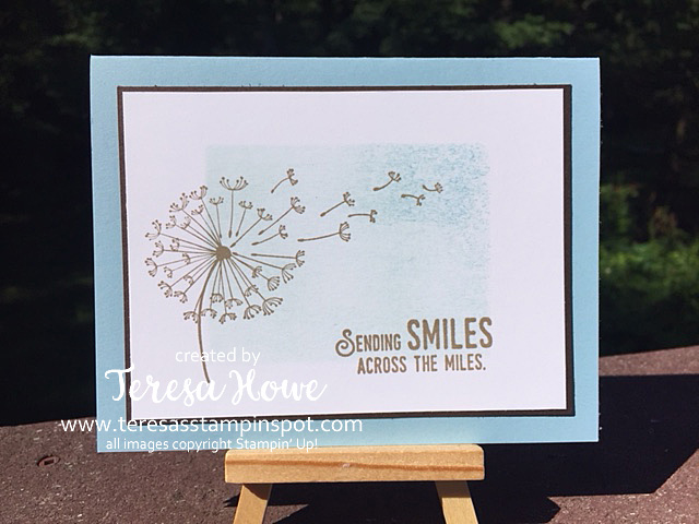 Smiles, Friendship, Dandelion Wishes, Stampin' Up!, SU!, Masking