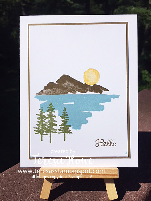 Hello, Just Because, Waterfront, Stampin' Up!, SU!
