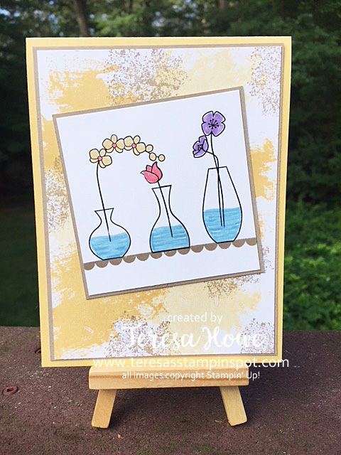 Stamparatus, Varied Vases, Artisan Textures, Flowers, Stampin' Up!, SU!
