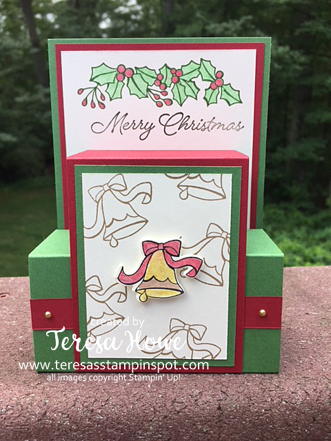 Christmas, Holly, Blended Seasons, Watercoloring, Stampin' Up!, SU!
