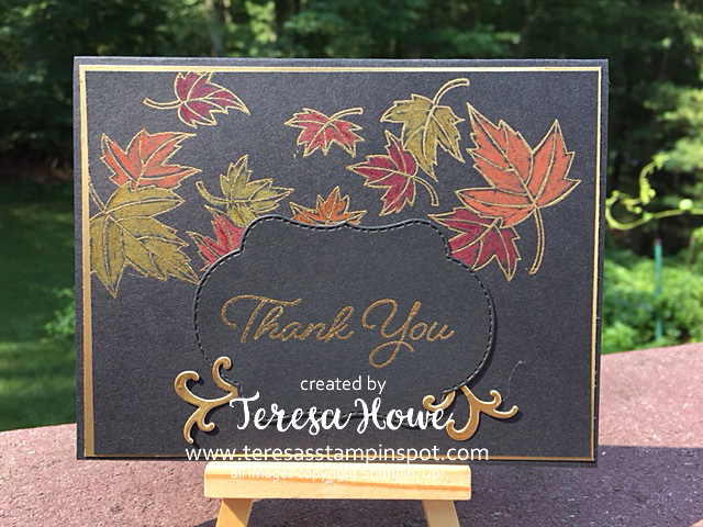 Fall, Elegance, Blended Seasons, Watercolors, Stampin' Up!, SU! Thank You