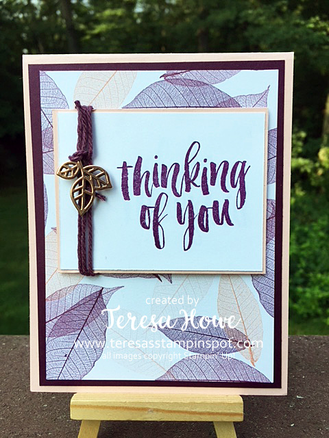 Thinking of You, Rooted in Nature, Fall, Stampin' Up!, SU!