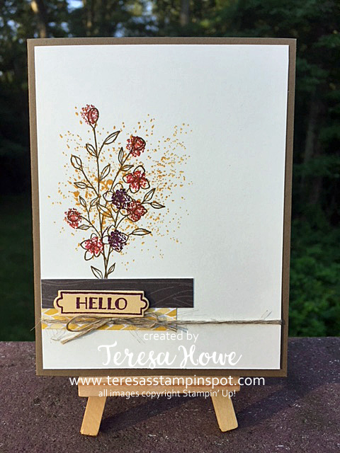 Fall Flowers, Hello, Stamp It Blog Hop, Stampin' Up!, SU!, Touches of Texture