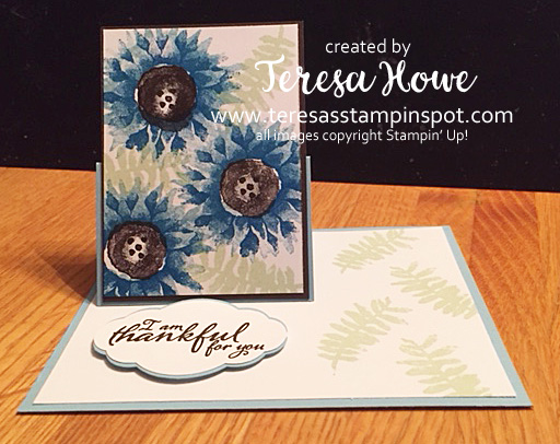 Thanks, Painted Harvest, Fancy Fold, Fun Fold, Stampin' Up!, SU!