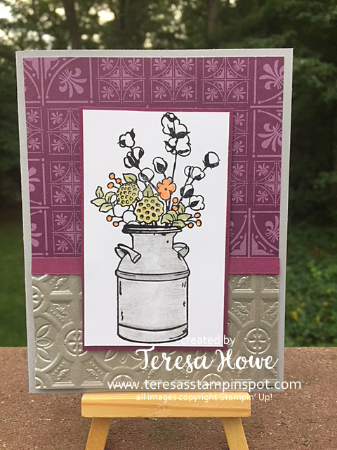 Country Home, Tin Tile Embossing Folder, Stampin' Up!, SU!, Fall