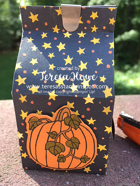 Halloween, Treat Holders, Mini Milk Carton, Seasonal Chums, Stampin' Up!, SU!, #stampitbloghop