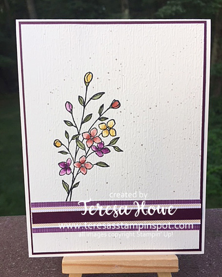 Fall Flowers, Touches of Texture, Flecking, Subtle EF, Stampin' Up!, SU!