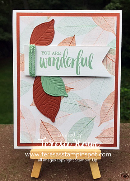 Fall, Card in a Flash, Rooted in Nature, Nature's Poem, Stampin' Up!, SU!