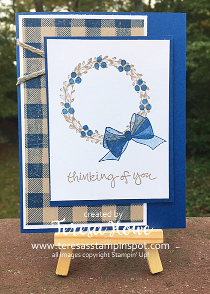 Thinking of You, Wreath, Wishing You Well, Stampin' Up!, SU! #2018HolidayCatalog
