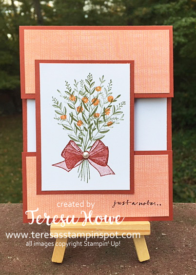 Just a Note, Flowers, Wishing You Well, Stampin' Up!, SU!, #2018HolidayCatalog