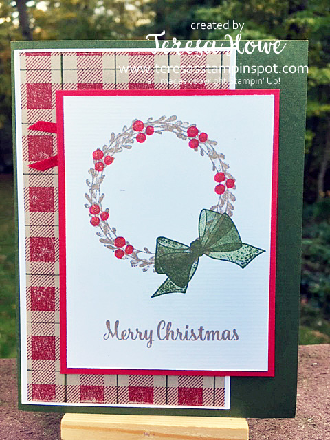 Christmas, Wishing You Well, Stampin' Up!, SU!, Buffalo Check