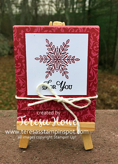 Snow is Glistening, Treat Holder, Ghirardelli, Stampin' Up!, SU!