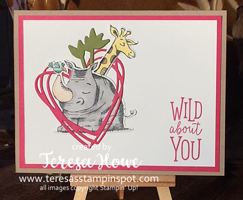 Valentine, Animal Outing, Stampin' Up!, SU!