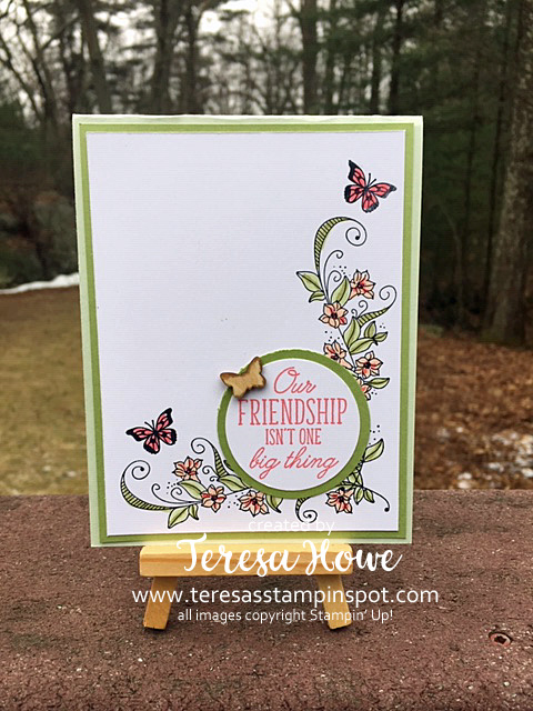 Friendship, Beauty Abounds, Butterflies, Stampin' Up!, SU!, 2019Occasions