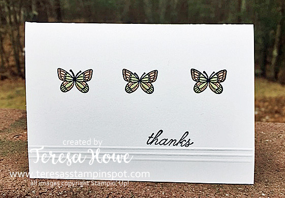 Thanks, Note Cards, Butterflies, Stampin' Up!, SU!, #2019Occasions